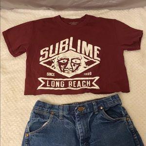 Vintage maroon sublime T-shirt